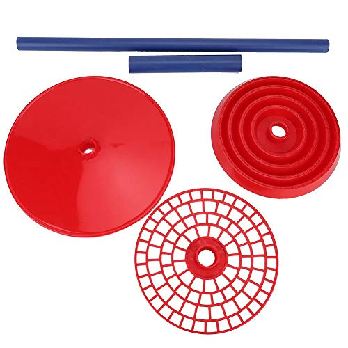 Pipettenständer, praktischer hitzebeständiger Laborbedarf Hochwertiger roter Mehrzweckpipettenständer-Halter-Rack-Pipettenständer für Laborkrankenhäuser