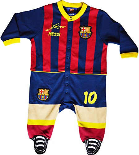 Strampelanzug für Babys mit Motto Lionel Messi, offizielle FC-Barcelona-Kollektion 18 Monate blau