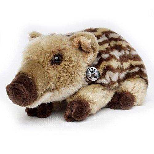 Frischling JESSIE Wildschwein liegend 29 cm Plüschtier von Kuscheltiere.biz