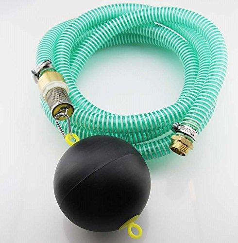 10m PVC Spiral- Saugschlauchgarnitur mit schwimmendem Ansaugfilter und 1