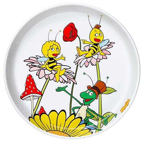 WMF Biene Maja Kindergeschirr Kinderteller, Ø 19,0 cm, Porzellan, spülmaschinengeeignet, farb- und lebensmittelecht