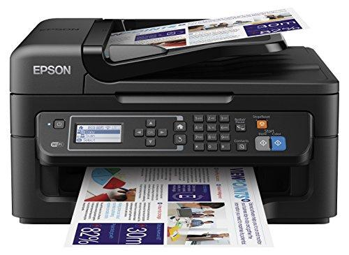 Epson WorkForce WF-2630WF Tintenstrahl-Multifunktionsgerät, Drucker (Scannen, Kopieren, Fax, WiFi, WiFi Direct, USB, Einzelpatronen, DIN A4) schwarz