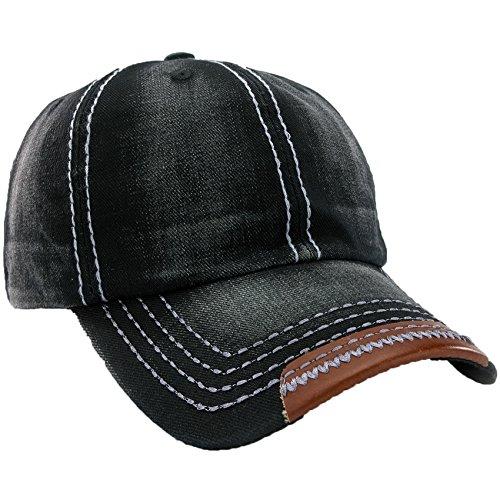 Unisex Baumwolle Baseball Cap Star Sport Mütze Baseballkappe Snap back Trucker MFAZ Morefaz Ltd (Jeans Black)