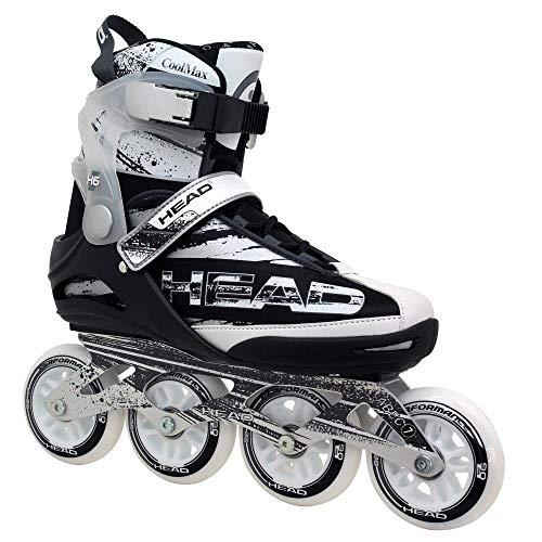 HEAD Fitness Inline Skate Raptor SR - Größe 43, 90mm - 82A Sport Straßen Inliner, ABEC 7 Bearing, Softboot, Rollschuhe in Damen und Herrengrößen