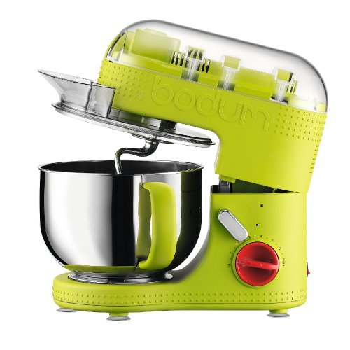 Bodum BISTRO elektrische Küchenmaschine (Saugfüße, 4,7 liters Inhalt, 700-Watt) grün