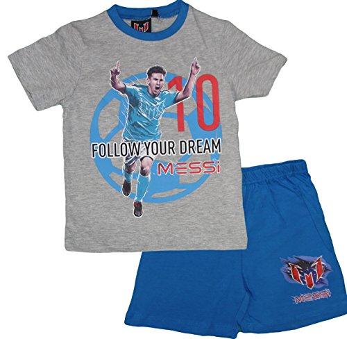Lionel Messi Offiziell Lizenzierte Kinder Sommer Pyjamas (Grau, 4 Jahre)