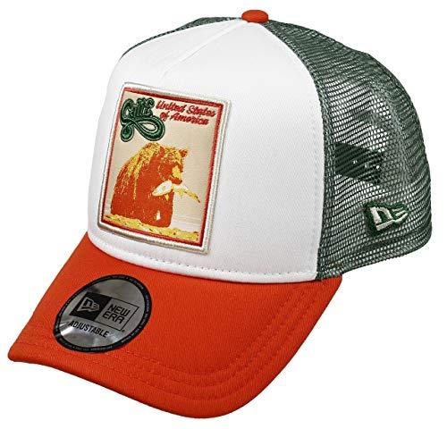 New Era 9Forty California Bear Trucker Cap weiß/orange, OneSize