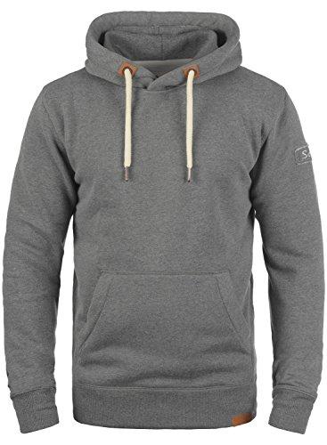 !Solid TripHood Herren Kapuzenpullover Hoodie Pullover Mit Kapuze Und Fleece-Innenseite, Größe:M, Farbe:Grey Melange (8236)