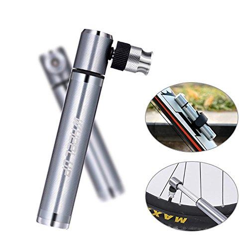 Aolvo Mini-Pumpe für Mountain Bike, BMX, Fahrrad, Fahrrad Reifen Pumpe Set mit hohem Druck PSI, Presta und Schrader Ventil mit-zuverlässig, kompakt & leichte, Ball, Fußball, Basketball-Nadel mit