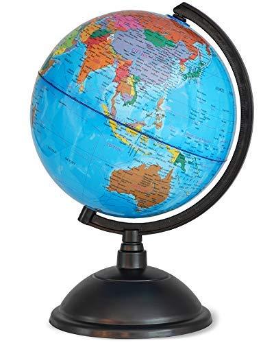 Juvale Globus mit Ständer, drehbar, für den Schreibtisch, lehrreich, ideal für Kinder