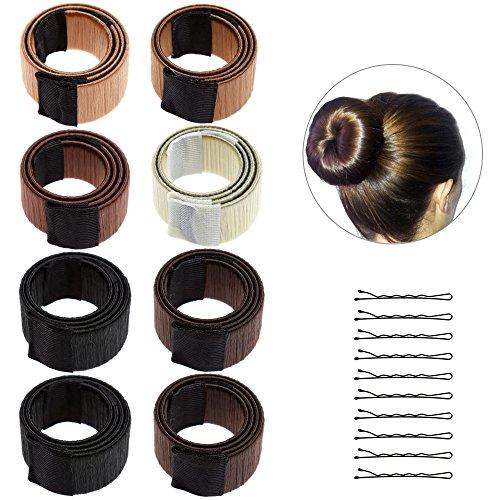 Lictin 8* Haar Bun Hair Bun DIY Haare Bun Tools Bun Clip Werkzeug-Brautfrisur Frisur Fashion Styling mit 10 Haarnadeln