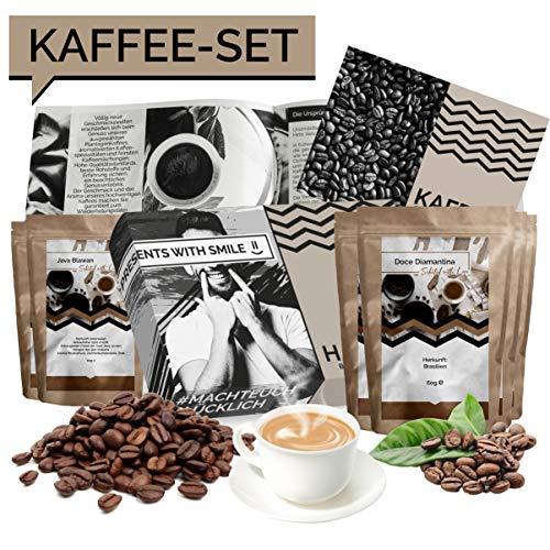 Kaffee Geschenkset Kaffee Geschenkbox | 6x60g Kaffee Weltreise Geschenkidee für Frauen Freundin | Kaffeebox Geschenk Box Geburtstag Weihnachten