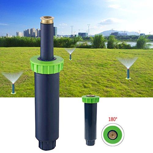 Lunji Automatische Skalierung Bewässerung Rasensprenger, 90/180/360 Grad Bewässerungssystem für Rasen/Garten, mit Einstellbarer Wurfweite (3-4.5 m) (180 Grad)