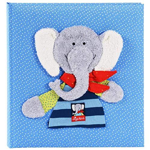 Goldbuch Babyalbum, Lolo Lombardo, 30 x 31 cm, 60 weiße Blankoseiten mit 4 illustrierten Seiten und Pergamin-Trennblättern, Leinen mit Applikation, Blau, 15592