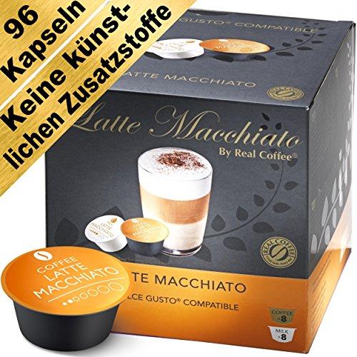 Latte Macchiato - 96 Dolce Gusto Kompatible Kapseln (6er-Pack mit Kaffeekapseln und Milchkapseln)