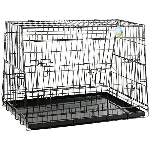 Me & My Pets - Abgeschrägte Gittertransportbox fürs Auto - zusammenklappbar