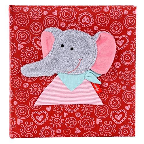 Goldbuch Babyalbum, Ele Bele, 30 x 31 cm, 60 weiße Blankoseiten mit 4 illustrierten Seiten und Pergamin-Trennblättern, Leinen mit Applikation, Pink, 15593