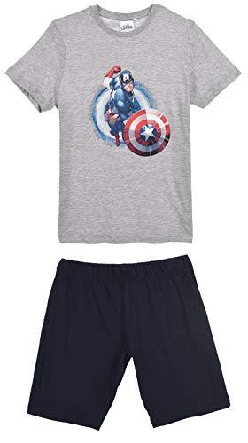 f1e8db3057 Avengers Herren Kurz Pyjama Schlafanzug, Hellgrau, L. Marvel Avengers -  Jungen Schlafanzug - kurz - Ironman, Hulk, Captain America ...