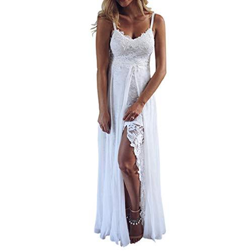 0350e0fa5e91f7 Goosuny Damen Abendkleid Kurz Spitze Sommerkleider Flare Sleeve Langarm  Kleid V Ausschnitt Enge Minikleid Sexy Cocktailkleid