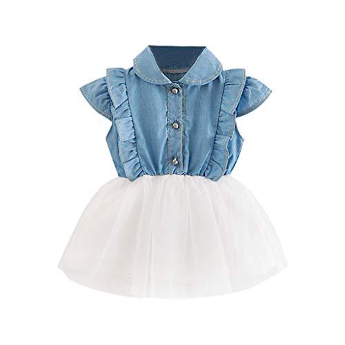 Mutter & Kinder Kleinkind Baby Kinder Mädchen Spitze Kleidung Kleider Sommer Backless Sleeveless Nette Minipartykleid Mädchen 0-5 T Exzellente QualitäT