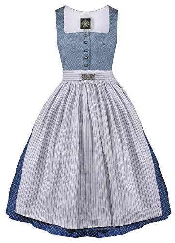 79fba73b8b64ab Hammerschmid Damen Trachten-Mode Midi Dirndl Chiemsee in Blau traditionell,  Größe:44,