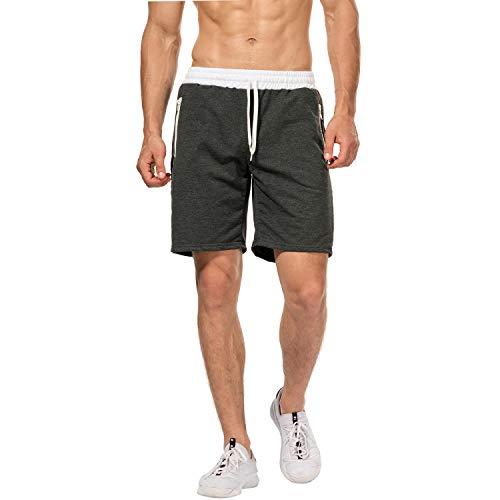 Ketamyy Herren Sommer Sport Kurze Hose UFC Drucken Joggen Bermuda Elastisch Taille Postleitzahl Tasche Kurze Hose
