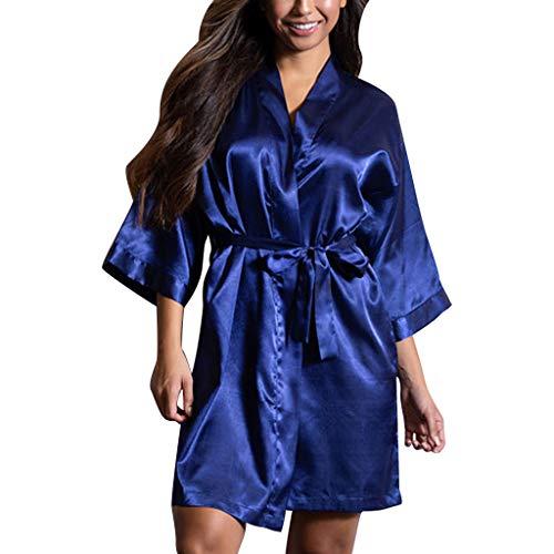 baa861855b23d Moserian Damens Sexy Satin Nachtwäsche Dessous Nachtwäsche Unterwäsche  Nachthemd Robe
