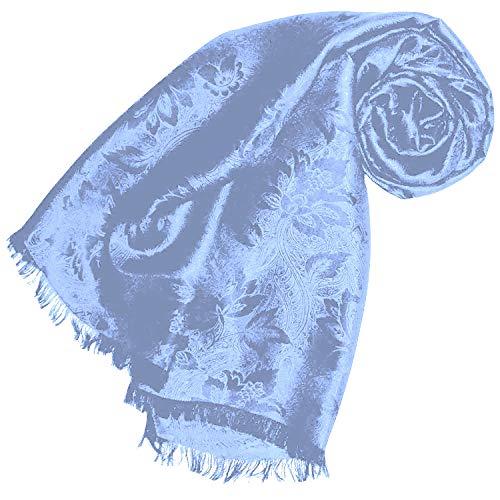 91052000d925c Lorenzo Cana Luxus Damen Schal Luxustuch elegant gewebt in Damast - Webung  florales Paisley Muster aus