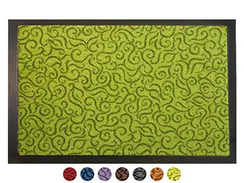 50x70cm Schmutzfangmatte waschbar in 4 modernen Design als T/ürvorleger innen und au/ßen carr/é Sauberlaufmatte f/ür Eingangsbereiche Fu/ßabtreter bunt Premium Fu/ßmatte